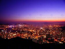 PHOTO CITYSCAPE HONG KONG CITY NIGHT 12 X 16 INCH ART PRINT POSTER HP2482