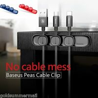 Baseus Magnetic Cable Clip Organizer Wire Cord Management Winder Line Holder