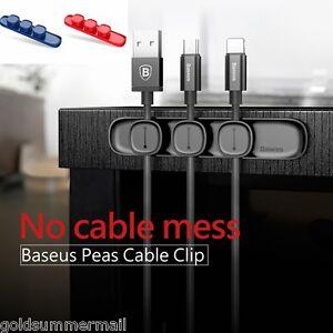 Magnetic Cable Clip Organizer Wire Cord Management Winder Line Holder EN