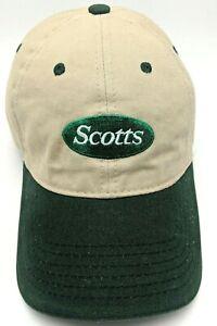 SCOTTS hat beige / green adjustable cap - 100% cotton