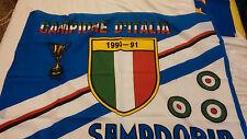 BANDIERA FLAG VINTAGE ANNI 80/90 ORIGINAL 150X100 CA. FOOTBALL - SAMPDORIA