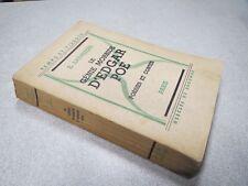 LAUVRIERE LE GENIE MORBIDE D EDGAR POE POESIES ET CONTES 1935 *
