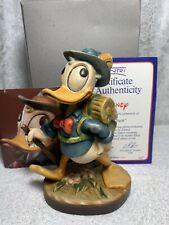 Anri Walt Disney Donald Duck Hiker Hiking Backpack Wood Carved Italy Figure 6�