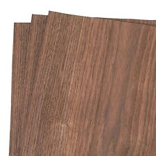 "New listing Walnut Wood Veneer Raw/Unbacked 12"" x 9"" Pack of 3 Sheets"