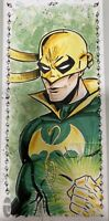2019 MARVEL PREMIER IRON FIST 3 PANEL SKETCH CARD 1/1 JP Buzio Super Detailed
