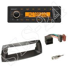 TR7412UB-OR Autoradio + Fiat Punto (188) 1-DIN Blende schwarz + ISO Adapter