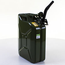 20L Metal Jerry Can Green Car Storage Fuel Petrol Diesel Container & Flexi Spout