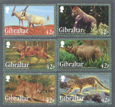 Gibraltar-Endangered Animals set 2012 mnh-