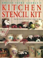 Amelia Saint George's Kitchen Stencil Kit Includes Pull Out Stencils 1996