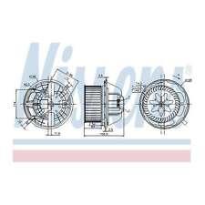 Fits BMW 3 Series E91 325i Genuine Nissens Interior Heater Blower Motor Fan