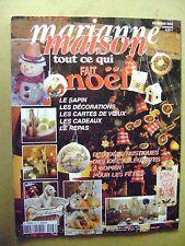 Magazine tricot  Marianne au point de croix Tout ce qui fait Noël  N°66 /Z112