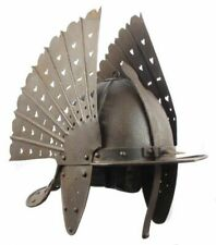 18GA Steel Medieval Hussars Helmet Knight Helmet Reenactment Halloween AJ572