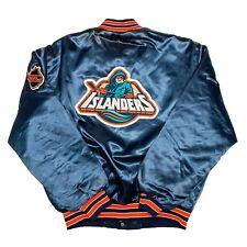 Vtg Rare NHL New York Islanders Fisherman Wave Swingster Satin Jacket. Mens L