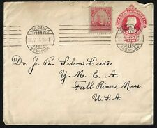 BRAZIL 1914 UPRATED 100 R. POSTAL COVER SAO PAULO TO US LETTER ENCLOSED