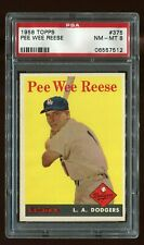 1958 Topps #375 PEE WEE REESE PSA 8 NM/MT! check out other high grade listings