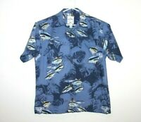 Guy Harvey Rare Tuna Short Sleeve Button Up Shirt Size Men's Medium