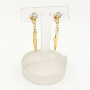 Ohrhänger aus 14 kt Gold mit Zirkonia