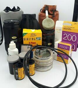 Vintage 35MM SLR Camera Film Lens Magnicon & Accessories Lot