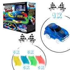 Magic Tracks Starter Set | Autorennbahn f. Kinder ab 3 J. | Rennbahn leuchtend