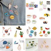 3/4/5/6/7/8 pcs/set Girls Fun Cute Collar Pins Badge Corsage Cartoon Brooch Pin
