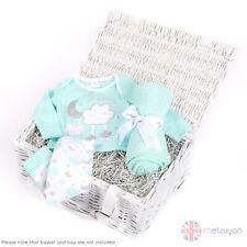 Baby Boys Girls Soft Blanket Cotton Pram Moses Basket Crib + Top Pants Outfit UK