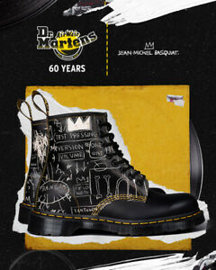 60 yrs Special Edition Dr. Martens 1460 x Jean-Michel Basquiat AnkleBoots UK8-10