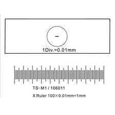 AmScope Microscope Stage Calibration Slide for USB Camera 0.01mm Micrometer