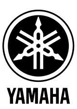 "Yamaha drums drumhead logo,, die cut decal, sticker, BLACK 6""X4.6"""