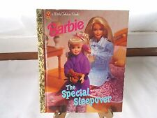 Little Golden Book Barbie The Special Sleepover 1997 1st Edition Mattel