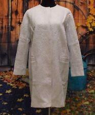 Lovely ASOS Women's White Ornate Jacquard Coat UK SIZE 10 RRP £85.