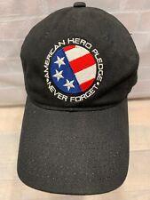 American Hero Pledge NEVER FORGET Adjustable Adult Cap Hat