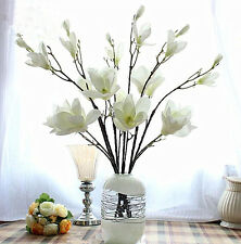 REAL TOUCH LOTUS MAGNOLIA X 3-fiori artificiali-Rosa, Luce rosa, bianco