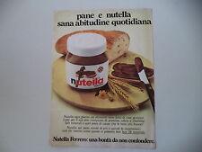 advertising Pubblicità 1975 NUTELLA FERRERO