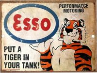 """ESSO Gas Oil Tiger In Your Tank Vintage Reproduction Aluminum Sign 9""""x12"""""""