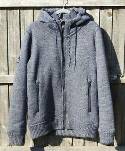 Mens Mountain Fleece Lined Grey Jacket 2XL Mountainsport Zipped Hoodie VGC