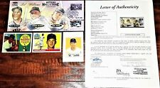 AUTOGRAPH WILLIE McCOVEY, HARMON KILLEBREW, DUKE SNIDER JSA 855 FDC TED WILLIAMS