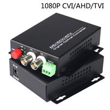 1pair 2 channel concentric 1080P AHD CVI 1v1d RS485 FC Media converter