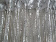 White Silver Glitter Fringe String Panel Curtain Room Divider Door Hanging 1mx2m