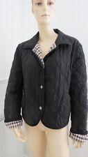 Ladies Aquascutum Jacket Black 100% Silk Size 16 Quilted Used