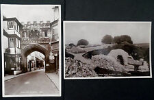 Salisbury, Real Photograph Old Postcards x 2, by E.A.Sweetman & Son,Sologlaze S