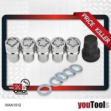 """5x Anti Theft Wheel Nut 1/2"""" 19mm Shank L38 Lock Key BA BF FG Falcon FORD"""
