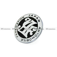 US~ Black JAF Front Grill Badge Universal JDM Japan Automotive Federation Emblem