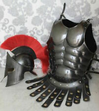 Gladiator Roman Maximus Style Helmet Armor with Spikes Costume W/ Muscle Jacket.
