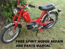 FREE SPIRIT PUCH MOPED REPAIR & PARTS MANUALs - 110pg for Sears Scooter Service