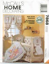McCalls 7868 Home Dec Baby Room Essentials Infant sewing pattern UNCUT