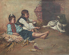 Geza Peske (Hungarian 1859-1934) Original Oil Painting Signed