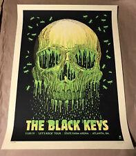 Black Keys Poster 2019 Atlanta Ga Screen Print Gig Signed Ap #'D