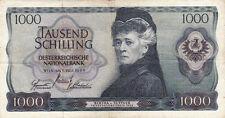 Billet banque AUTRICHE AUSTRIA 1000 SCHILLING 1966 état voir scan 715
