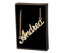 18k Plateó la Collar de Oro Con el Nombre - ANDREA - Regalos Para las Mujeres