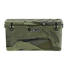 Vibe Heavy Duty 75 Quart Roto Molded Cooler Ice Chest with Bottle Openers - Camo